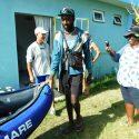 Christian Dossaint , un Français ambassadeur du monde et  explorateur de la nature a fait le tour de Rodrigues en kayak du 27 au 31 décembre 2018