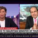 Steven Obeegadoo sur CNN Les estimations du gouvernement, en termes d'arrivées touristiques pour les 12 prochains mois, s'élèvent à 650 000.